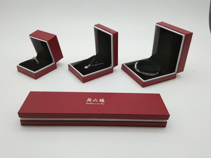ZTB-085 Newest design plastic box in paper box for jewelry storage and display