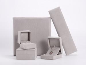 ZTB-117 plastic jewelry gift box with velvet cover