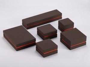 ZTB-119 plastic jewelry gift box with velvet cover