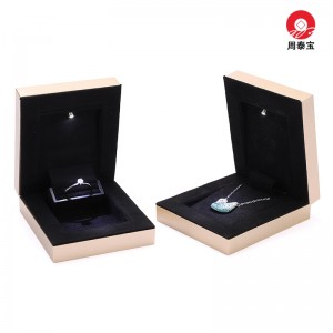 ZTB-159 thin  and light plastic painted LED lighted jewelry box
