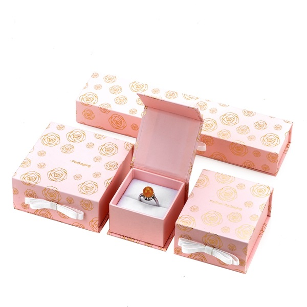 ZH03-004 book shaped paper cardboard jewelry gift collecton box