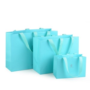 ZD-021 light blue paper  jewelry bag