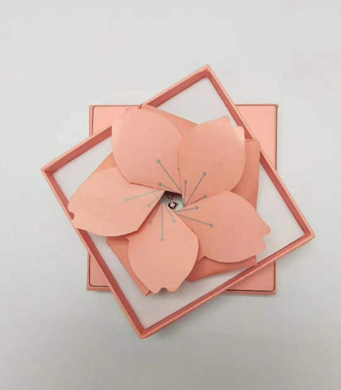 ZTB-135 nice idea pink color two pieces cardboard jewerly gift box for medical personnel ,mother and father's day