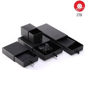 ZTB-102 Eco-friendly cardboard jewelry box with drawer