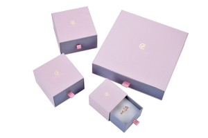ZH01-002 drawer structure paper cardboard jewelry box covered by special paper