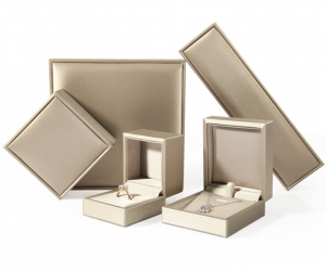 ZTB-071 wiredrawing effect PU plastic jewelry gift storage box