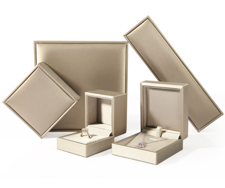 ZTB-071 wiredrawing effect PU plastic jewelry gift storage box
