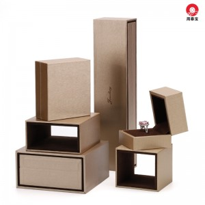 ZTB-155 high end thicker plastic jewelry box with packer  for jewelry storage