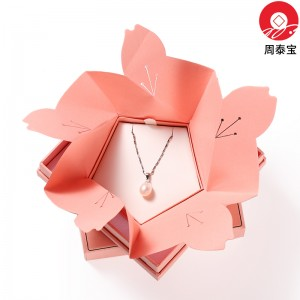 ZTB-135 cherry blossom structure  two pieces cardboard jewerly gift box