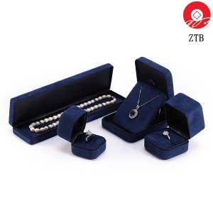 ZTB-100 Recyclable iron jewelry display box laminated by flannel