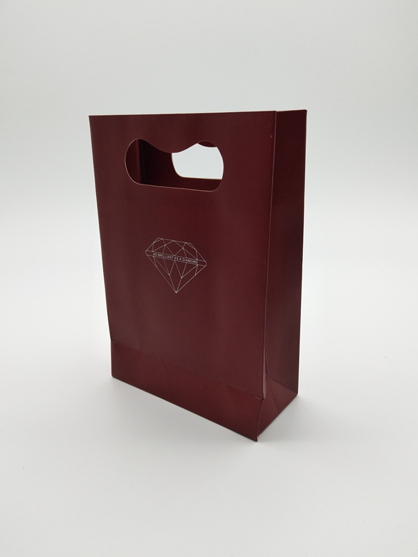 ZD-007 Paper jewelry gift party bags with handle