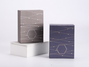 ZTB-113 Elegant and simple cardboard Clamshell box for jewelry display