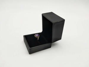 ZTB-091 jewelry ring box wrapped by soft touching PU