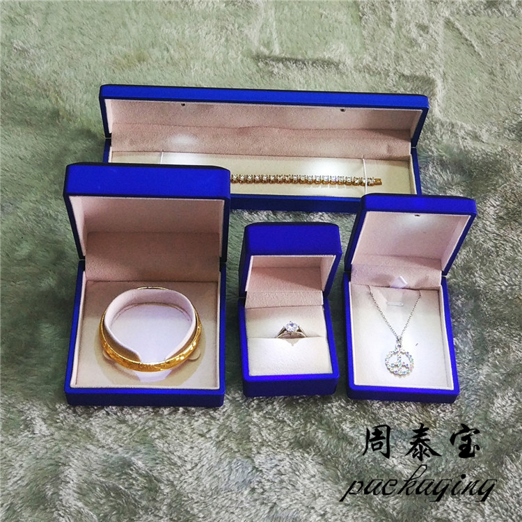 ZTB-023 blue paints painted jewelry gift box with LED light for proposal,engagement,anniversary
