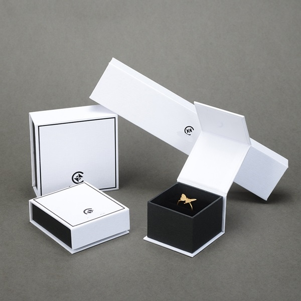 ZH03-007 book shaped paper cardboard jewelry gift collecton box