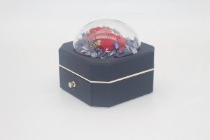ZTB-127B single layer jewely storage box with flower new gift  for valentine's Day