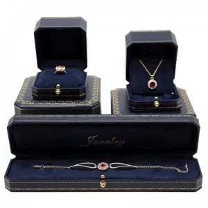 ZTB-056 blue color high level jewelry box for jewelry storage and display