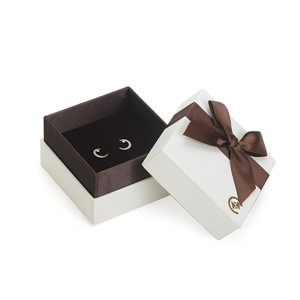 ZH05-004  two pieces paper cardboard jewelry display box with ribbon