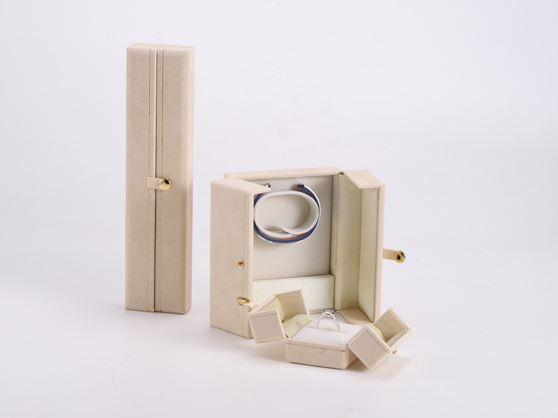 ZTB-120  Double side opening plastic jewelry display box with snap