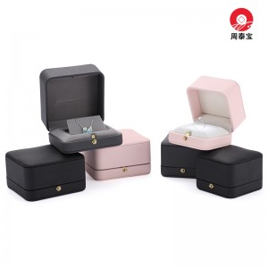 ZTB-160 PU covered snap lock style LED lighted jewelry gift box