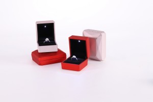ZTB-026 diamond pattern light up jewelry box for proposal,engagement,wedding