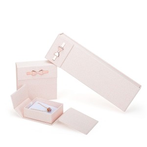ZH03-001 Book structure paper cardboard jewelry display gift box