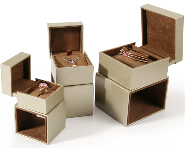 ZTB-073 wiredrawing effect plastic jewelry gift  box in box for jewelry storage and display
