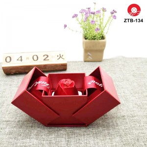 ZTB-134 New unique rose flower box in box jewlery storage box