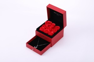 ZTB-055 Fancy jewelry display storage box  with flower for valentine's day gift