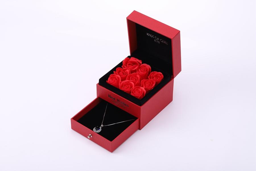ZTB-055 Fancy jewelry display storage box  with flower for valentine's day gift