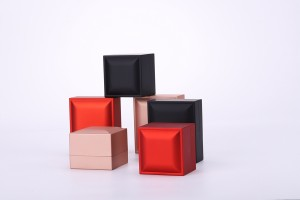 ZTB-041 Painted  Plastic Jewelry Box With LED Light for Proposal Engagement Wedding Business Gift Necklace Box