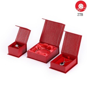 ZTB-101 Clamshell style cardboard  jewelry box with magnet lock system