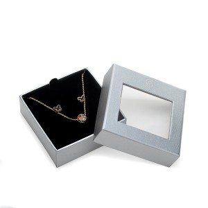 ZH05-001 two pieces paper cardboard jewelry display box with transparent window