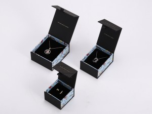 ZTB-114   Elegant and colorful printed cardboard Clamshell box for jewelry gift display