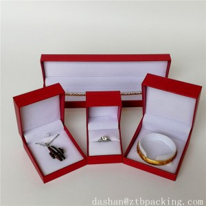 ZTB-029 special paper laminated plastic jewelry gift case for anniversary,festival and proposal