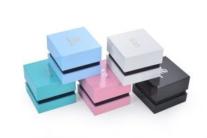 DH-001 new fancy plastic jewelry box with LED light