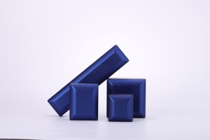 ZTB-079 blue color painted plastic LED jewelry gift box for jewelry storage