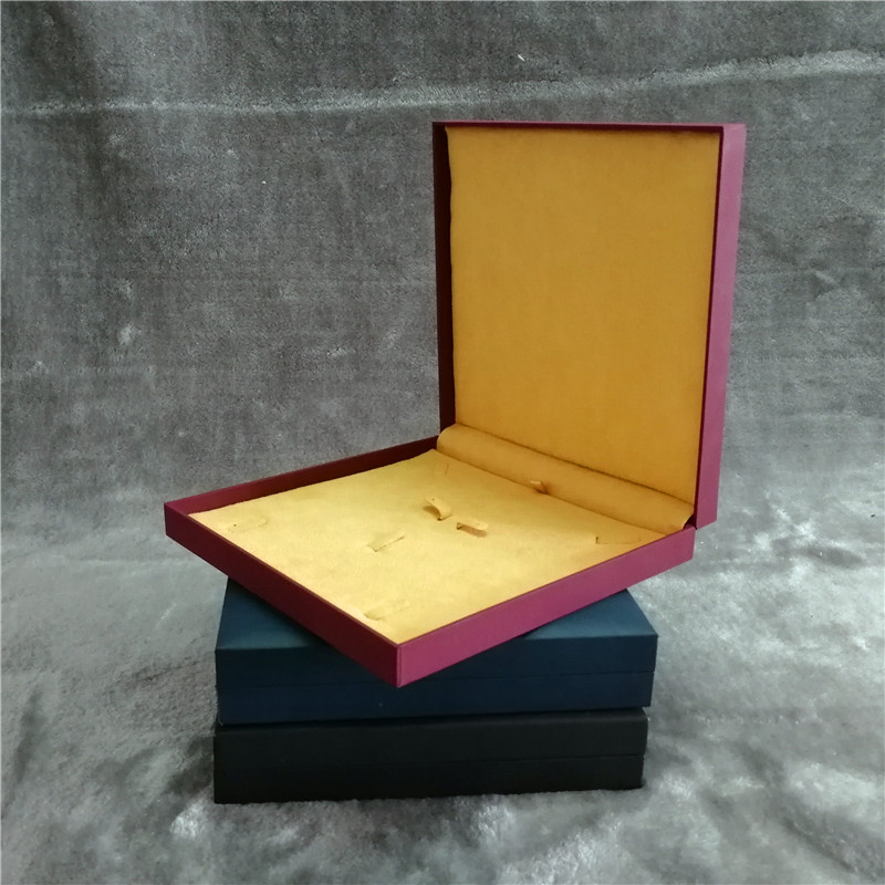 ZTB-036 touch feeling special paper laminated plastic jewelry set storage box