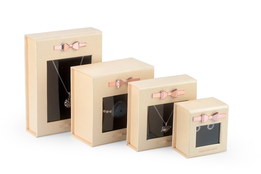 ZH03-006 book shaped paper cardboard jewelry gift collecton box with transparent window
