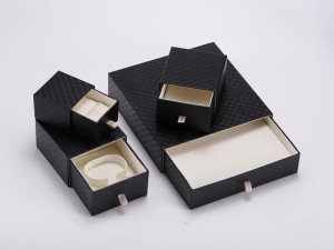 ZTB-111 Elegant cardboard jewelry box with drawer for ring,bangle,bracelet display