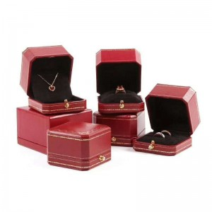 ZTB-056 red color high end jewelry display box  for party and event