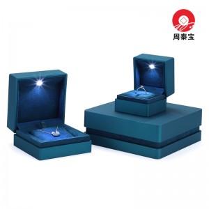 ZTB-161 Velvet covered plastic LED lighted jewelry gift box