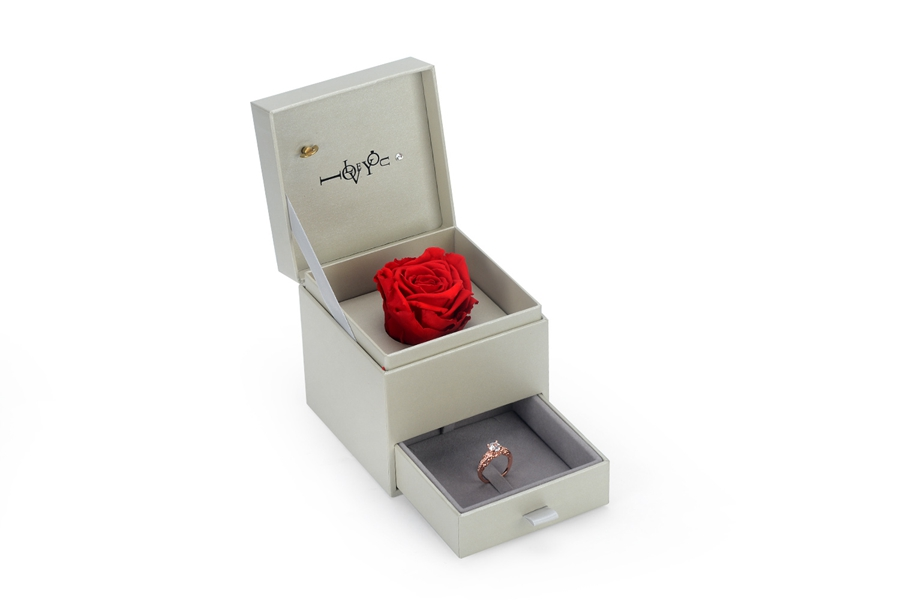 ZH06-001 High-grade and romantic jewelry display box with flower