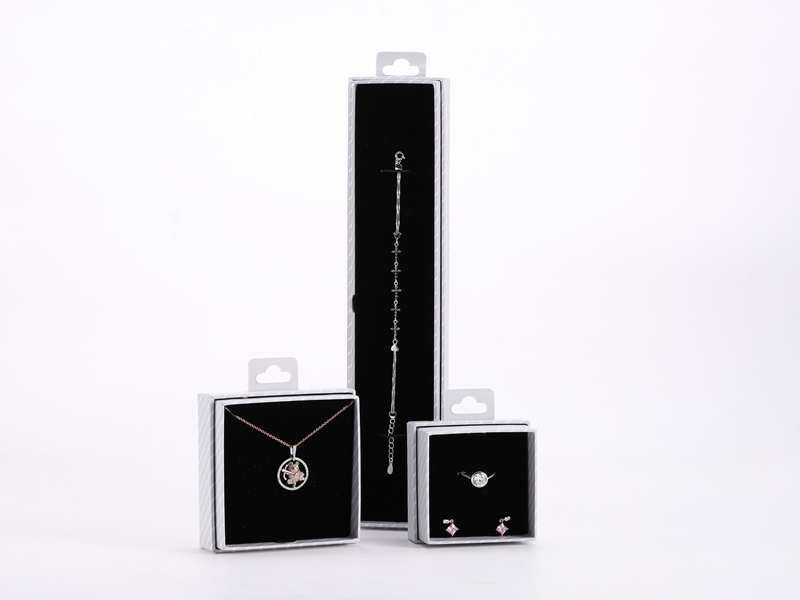ZTB-107 two pieces cardboard hanging box for jewelry display