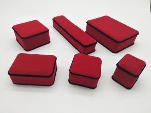 ZTB-040 Rose Red Velvet  Jewelry Case Gift Boxes for ring pendant bangle and bracelet