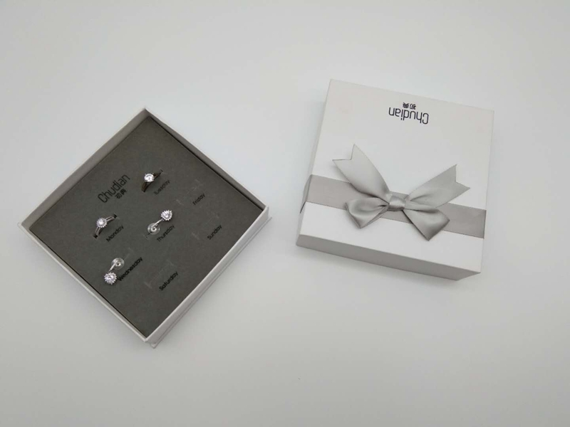 ZTB-077 jewelry set display box for ring and earring for one week
