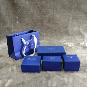 ZTB-020 blue color matte effect cardboard jewel...