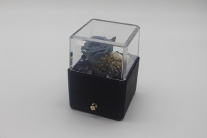 ZTB-129 small size blue color square shaped jewelry storage box for valentine's day with led lights
