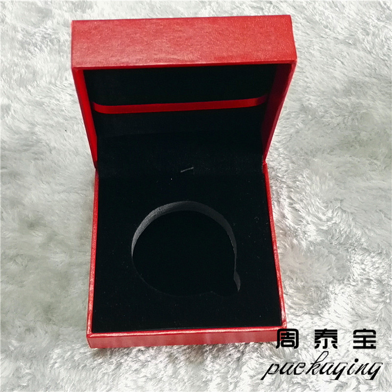 ZTB-037 leatherette paper laminated plastic gift box for gold coin