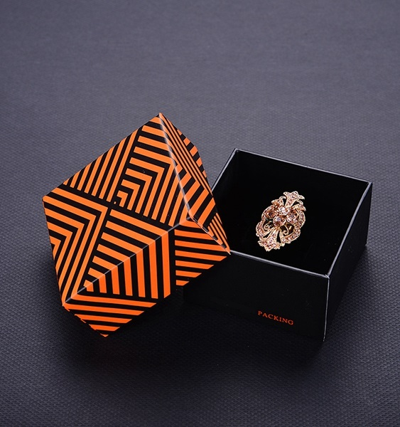 ZH05-002  two pieces box  paper cardboard jewelry display box with transparent window